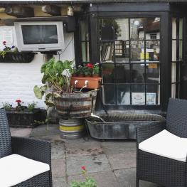 Beer Garden with TV The Bull Inn Faversham